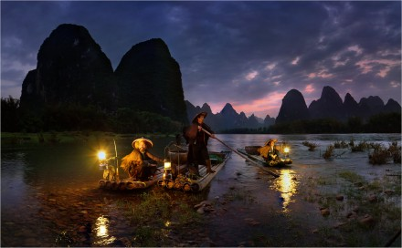 Night Fishing by Yury Pustovoy