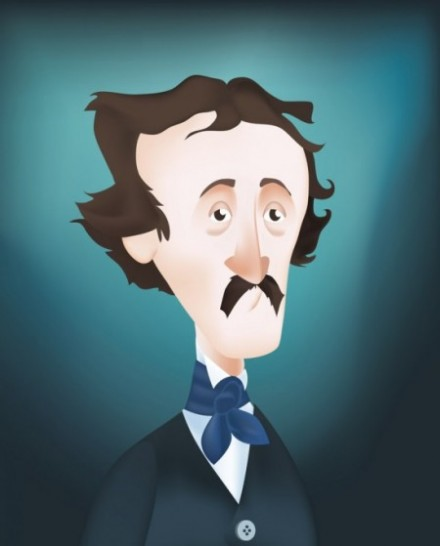 Heroes of Geek Myth: Edgar Allan Poe Illustration
