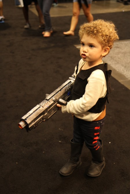 Children inspired by Star Wars at Star Wars Celebration VI