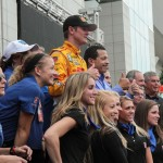 Ryan Hunter-Reay at the 2012 Grand Prix of Baltimore Victory Lane Stage