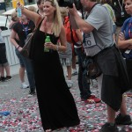 Beccy Gordon at the 2012 Grand Prix of Baltimore Victory Lane Stage