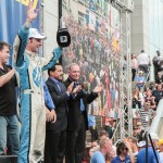 Simon Pagenaud at the 2012 Grand Prix of Baltimore Victory Lane Stage