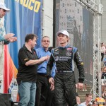 Ryan Briscoe at the 2012 Grand Prix of Baltimore Victory Lane Stage