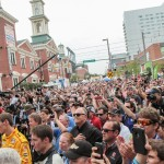 Crowd at the 2012 Grand Prix of Baltimore Victory Lane Stage