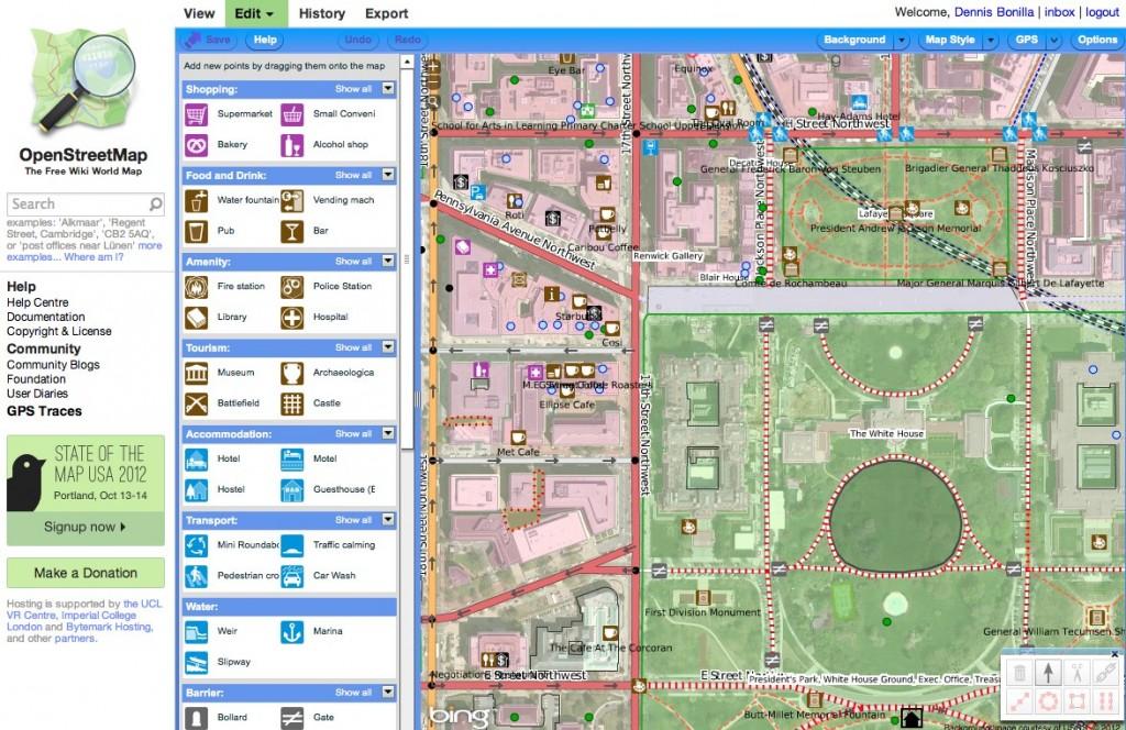 OpenStreetMap Edit View