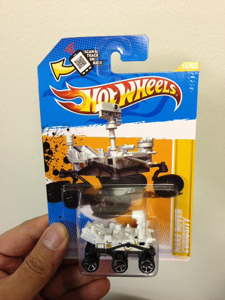 Mars Rover Curiosity Hot Wheels Toy