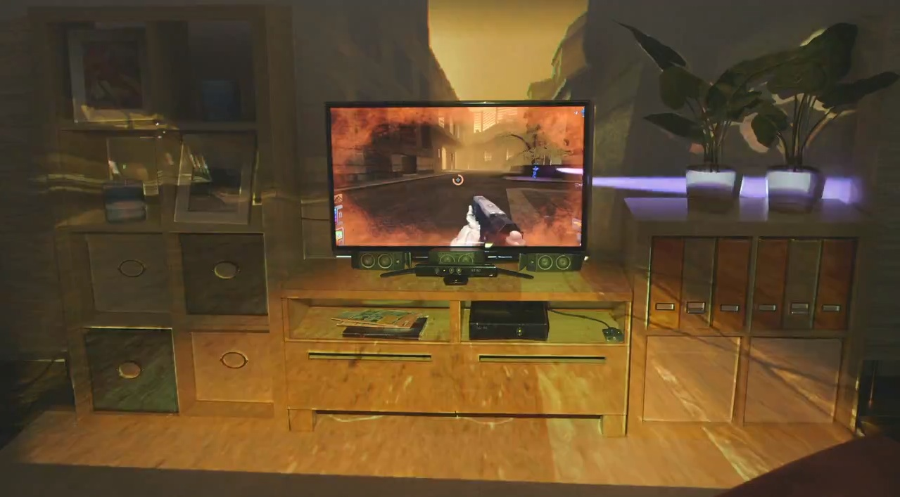 Microsoft Research Shows Off IllumiRoom Display Technology