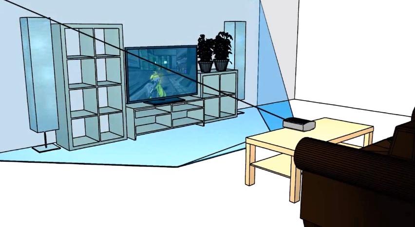 Microsoft IllumiRoom Demo
