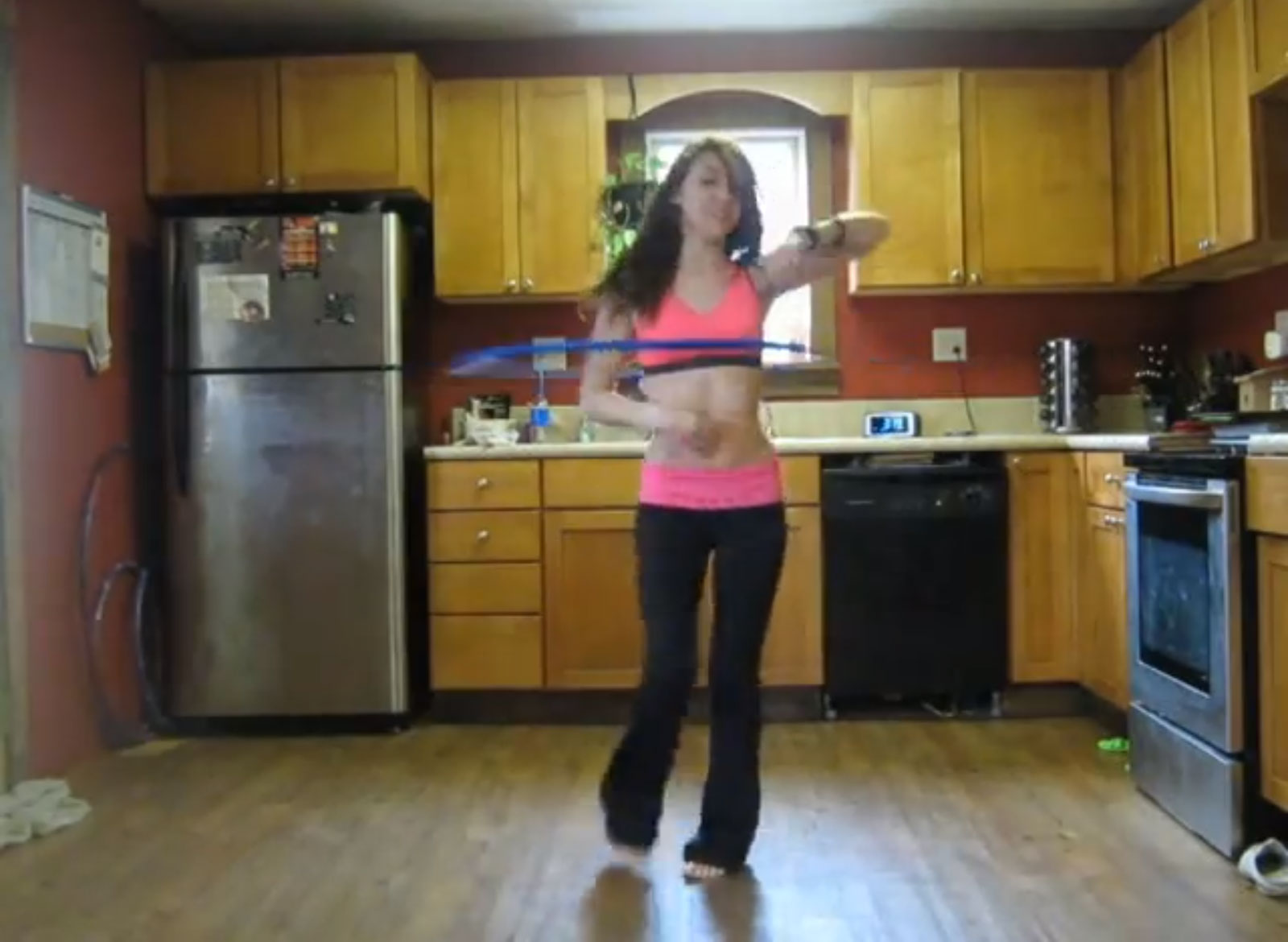 Hula Hoop Girl Performs to Say Hey (I Love You)
