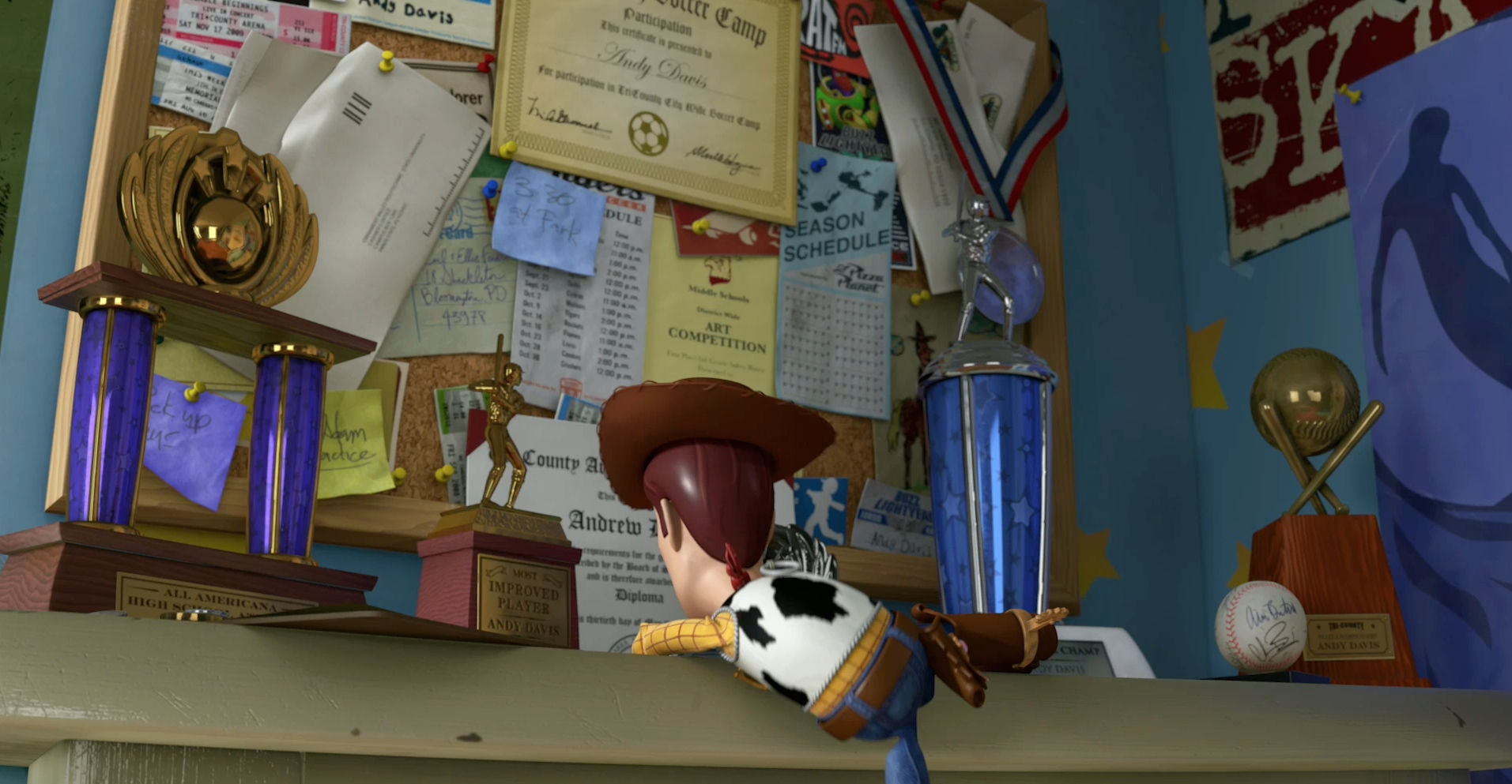 Toy Story's Andy was pen pals with Carl and Ellie from Up