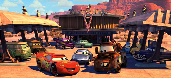 "Humans have already left the planet in ""Cars"" universe."