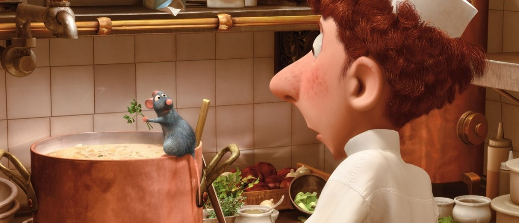 In Ratatouille, animals can cook and do perform high level human functions.