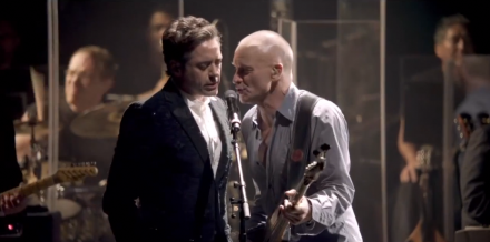 "Robert Downey Jr. and Sting sing ""Driven to Tears"" at Beacon Theatre"