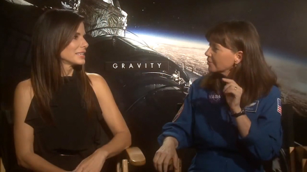 Sandra Bullock and Astronaut Cady Coleman Talk About Flying in Space and The Dangers of Fire on the International Space Station