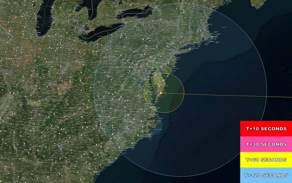 LADEE Launch Visibility on the US East Coast