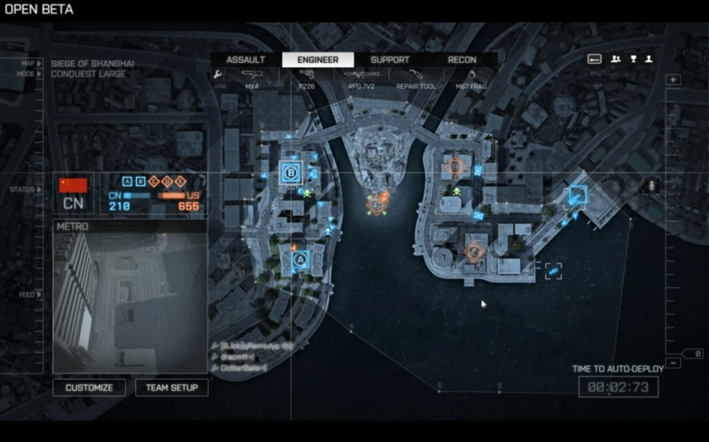 Battlefield 4 Beta Deployment Map