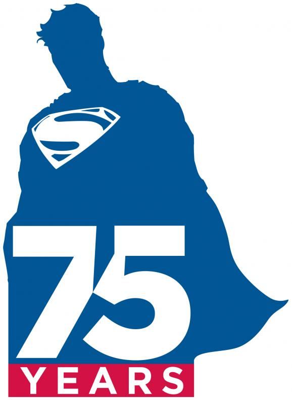 Superman 75 Year Anniversary Logo