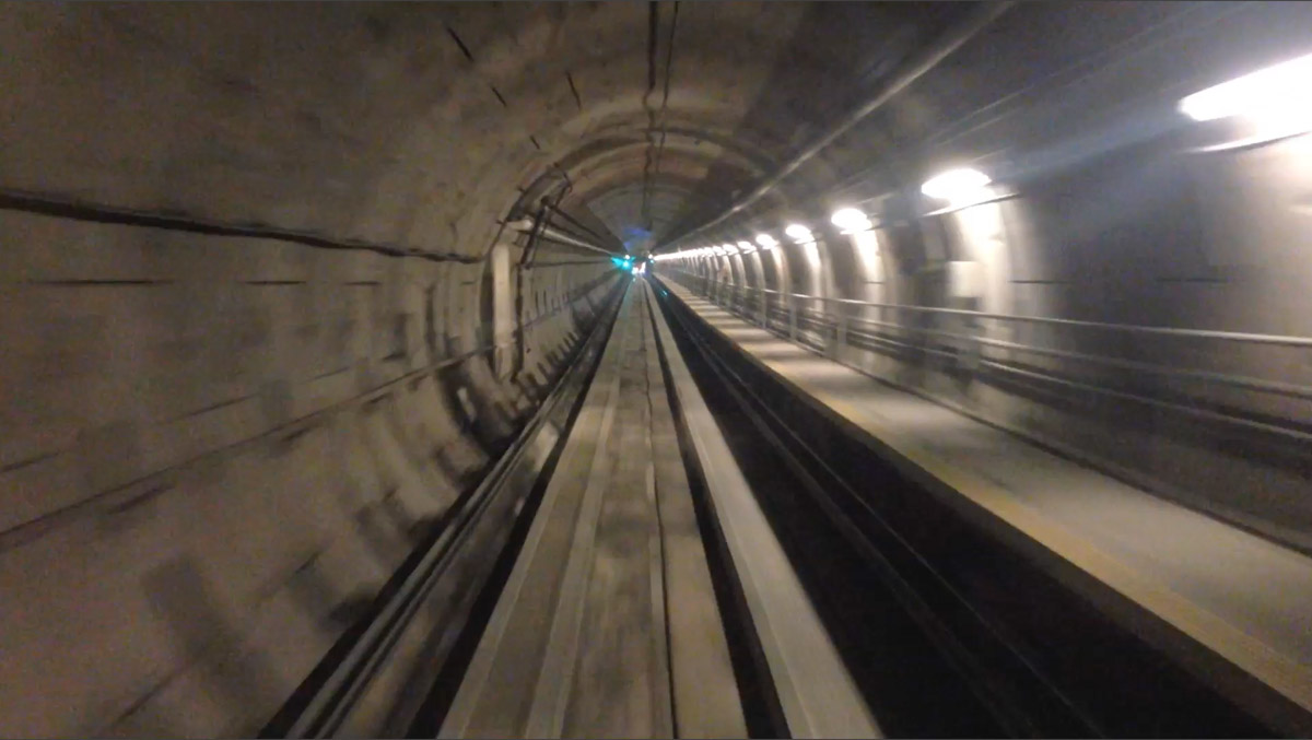 The Automated People Mover Tunnel at Dulles International Airport