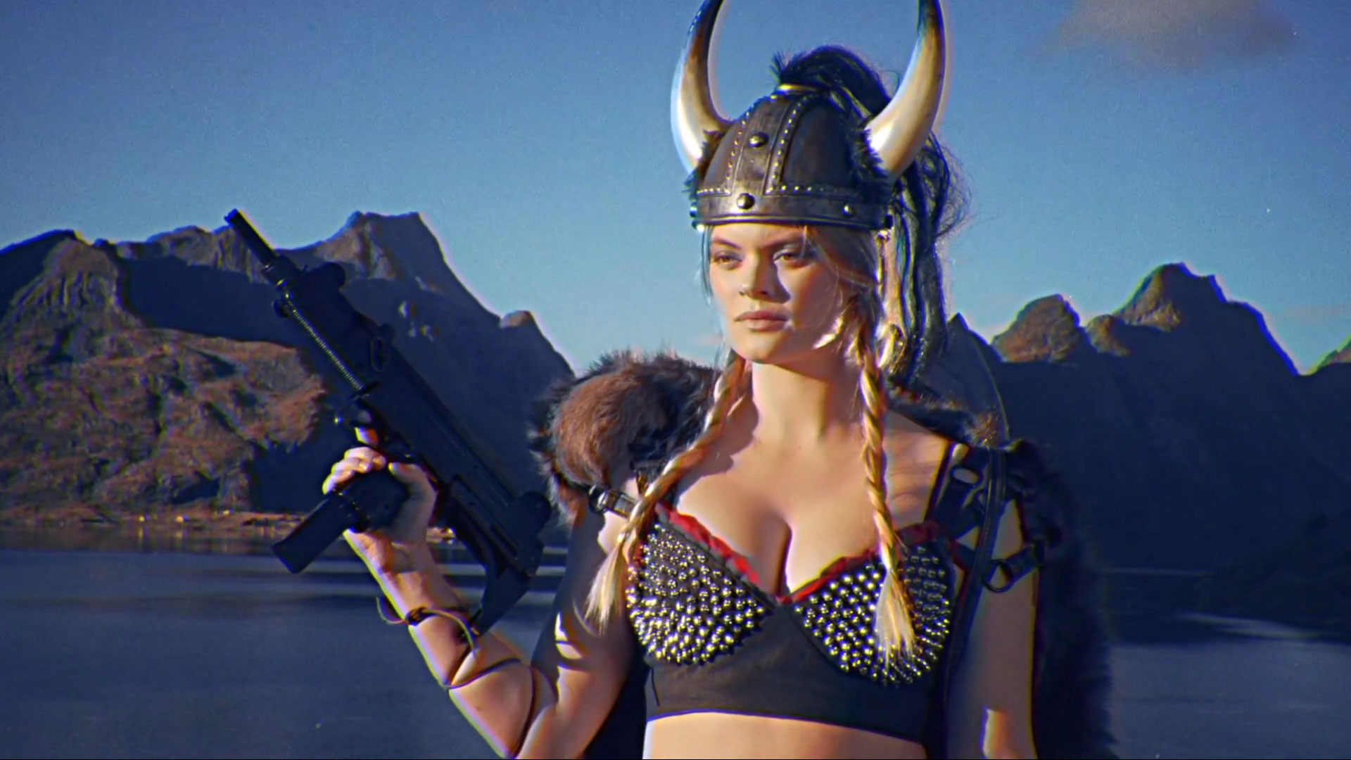 "Kung Fury Joanna Häggblom as ""Viking Babe"""