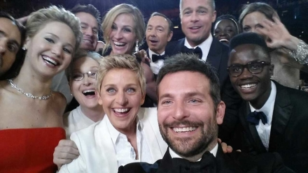 Ellen Tweets an Epic Selfie at the 86th Academy Awards and Makes Oscar History