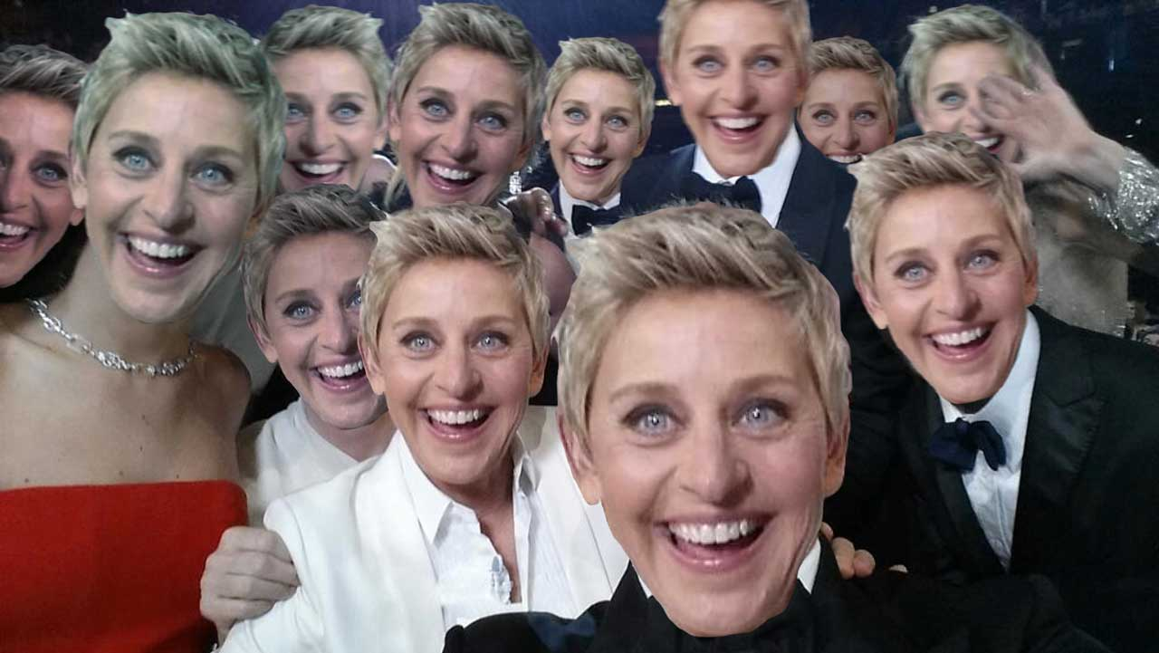 Ellen DeGeneres Parody Academy Award Twitter Photo at the Oscars