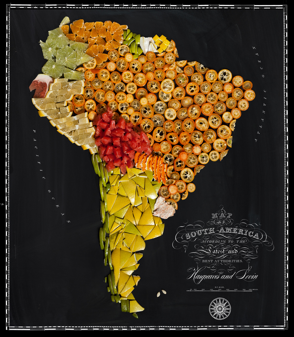 Henry Hargreaves and Caitlin Levin Create Food Maps: South America