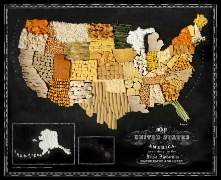 Henry Hargreaves and Caitlin Levin Create Maps Out of Food