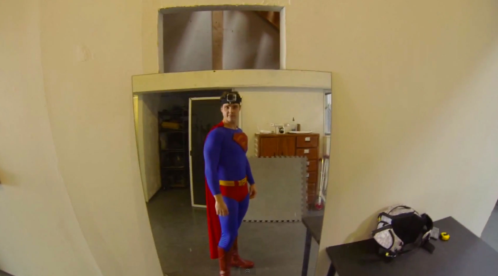 Superman Wears a GoPro Camera