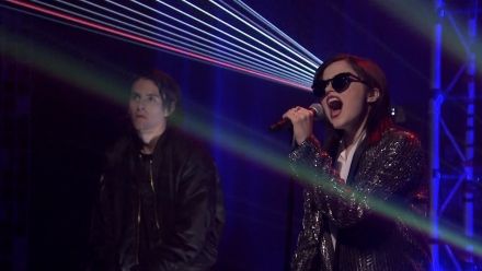 "Sky Ferreira Performs ""I Blame Myself"" with a Laser Light Show on ""The Tonight Show"""