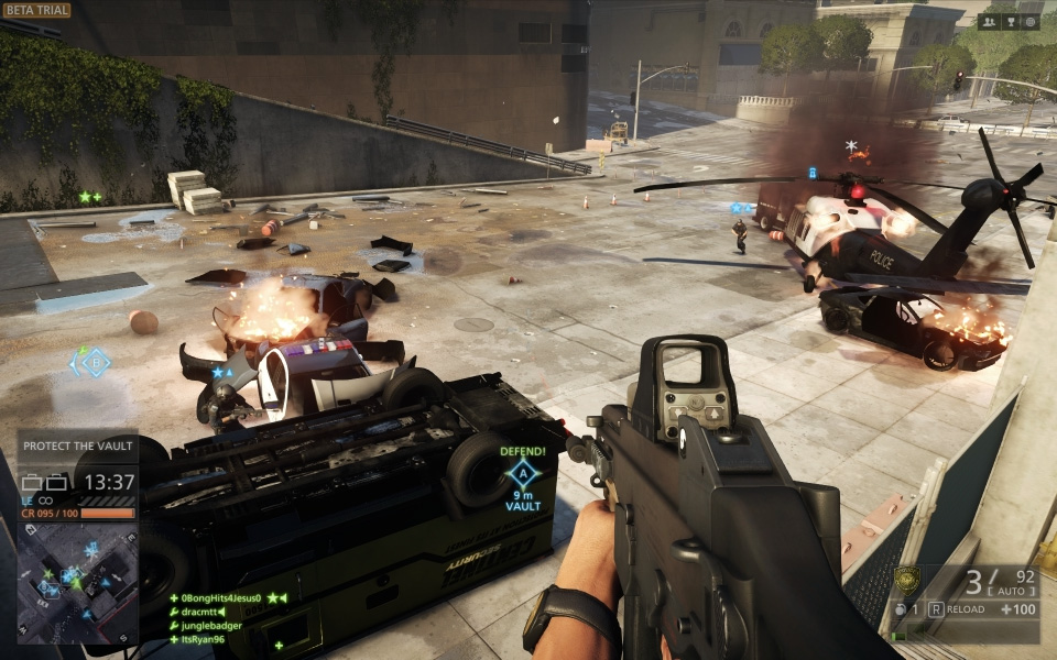 Battlefield Hardline Beta Gameplay