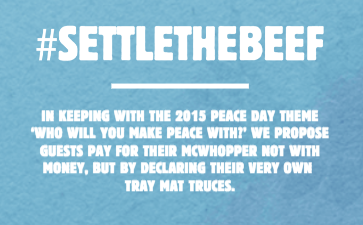 McWhopper Truce - Settle the Beef #settlethebeef